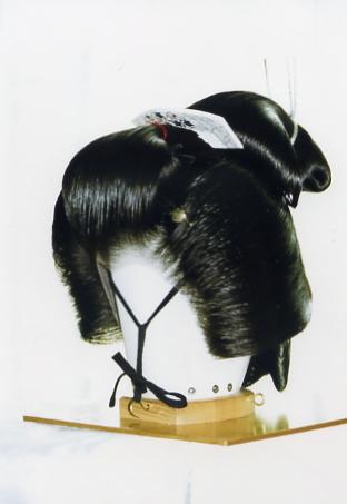 芸妓島田 前   芸妓島田(げいこしまだ) 花街の芸妓さんがお座敷に出る時の髪型  芸妓島田 前